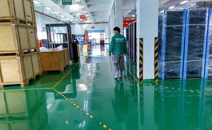 绿色油性自流平环氧树脂地坪